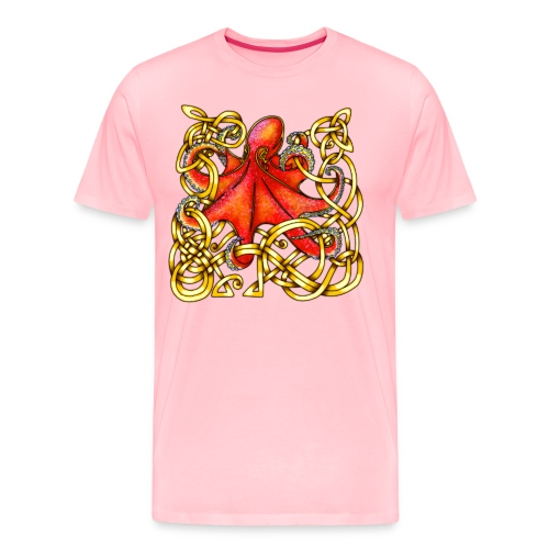 Octopus - Red & Gold - Men's Premium T-Shirt