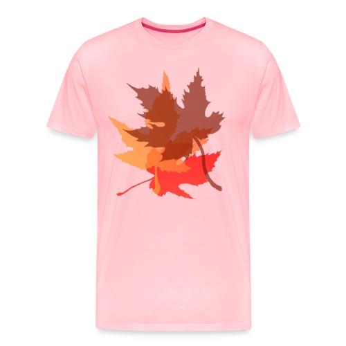 Big Autumn Leaves - Men's Premium T-Shirt
