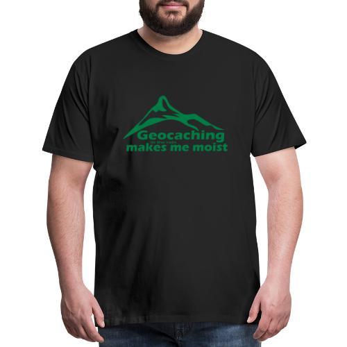 Geocaching in the Rain - Men's Premium T-Shirt