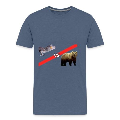 Gecko VS Bear - Kids - Men's Premium T-Shirt