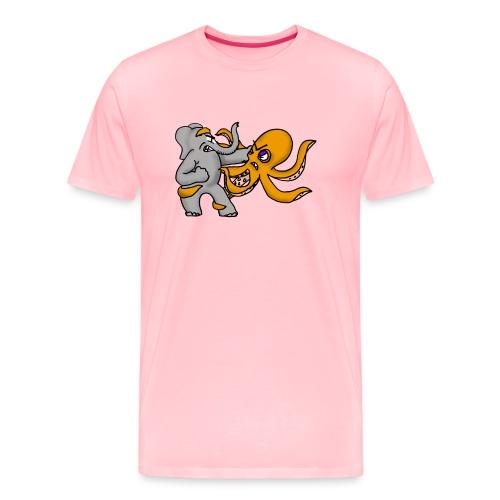Elephant vs. Octopus T-Shirt - Men's Premium T-Shirt