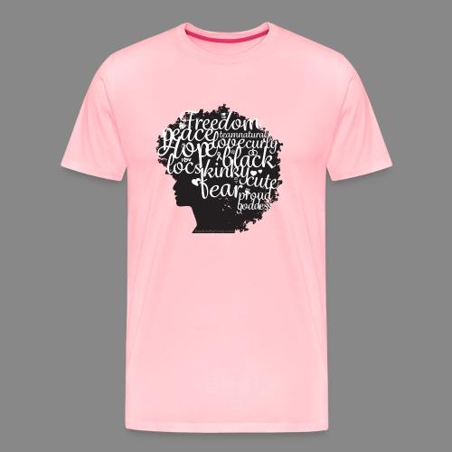Afro Text II - Men's Premium T-Shirt