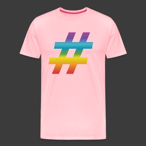 Rainbow Include Hash - Men's Premium T-Shirt