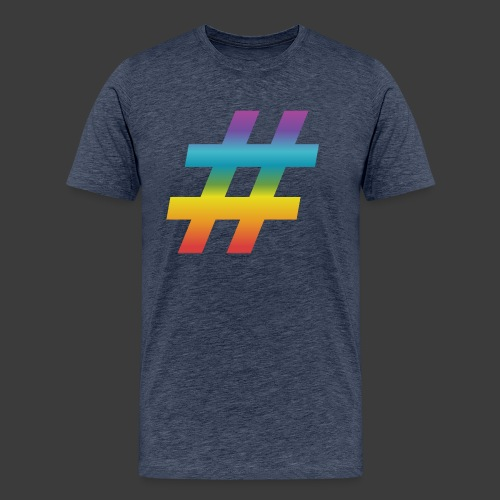 Rainbow Include Hash - Men's Premium T-Shirt