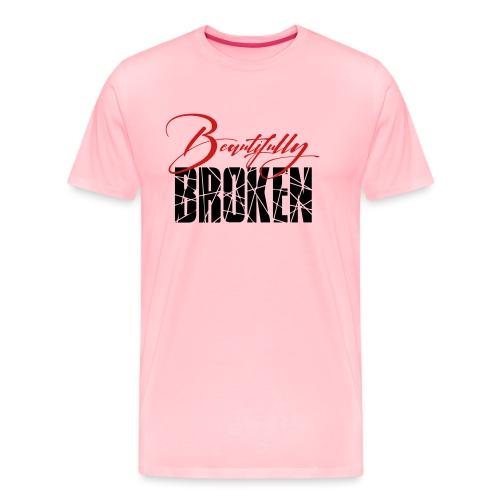Beautifully Broken - Red & Black print - Men's Premium T-Shirt