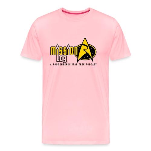 Logo Wide 2 Color Black Text - Men's Premium T-Shirt