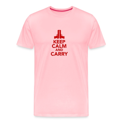 KeepCalm_Point-Up_RED - Men's Premium T-Shirt