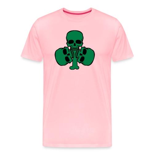 Skull Shamrock w/ Teeth - Men's Premium T-Shirt