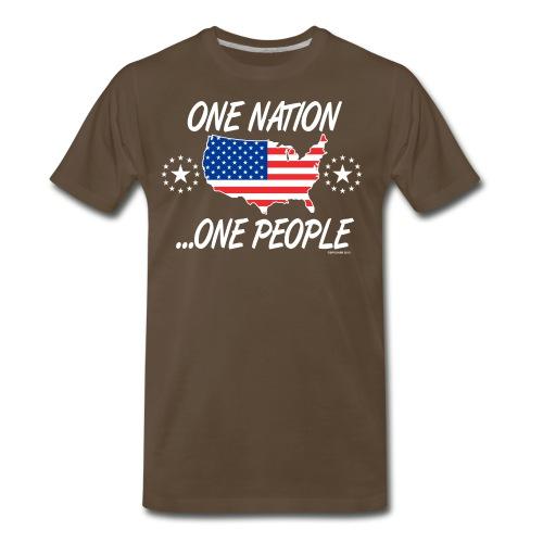 One Nation One People 2012 FRONT TRANSPARENT BACKG - Men's Premium T-Shirt
