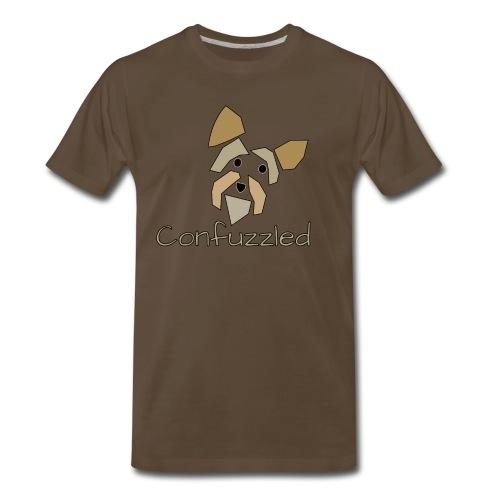 Attitude Dog: Confuzzled Yorkie - Men's Premium T-Shirt
