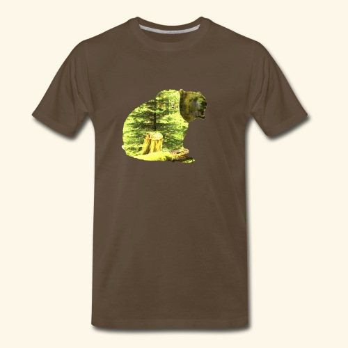 Bear isolated in the woods - Men's Premium T-Shirt