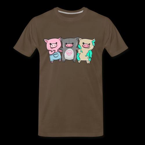 Three Little Pigs I Gift Idea - Men's Premium T-Shirt