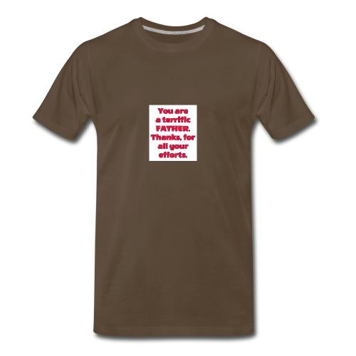 A terrific father - Men's Premium T-Shirt