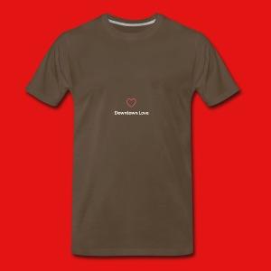Downtown Love logo - White - Men's Premium T-Shirt