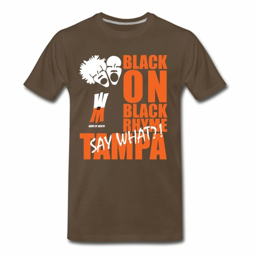 Black on Black Rhyme Tampa #1 - Men's Premium T-Shirt
