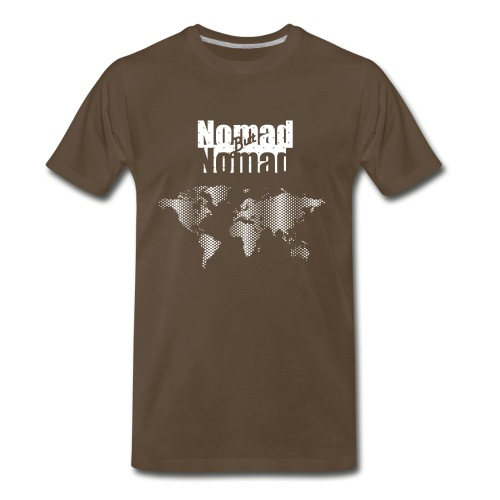 NomadButNoMad world white - Men's Premium T-Shirt