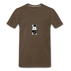 Educated Beard wise man logo - Men's Premium T-Shirt