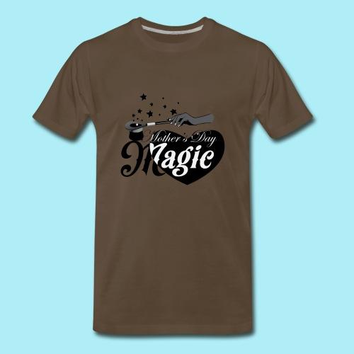 African American Mother's Day Magic (Black Star) - Men's Premium T-Shirt