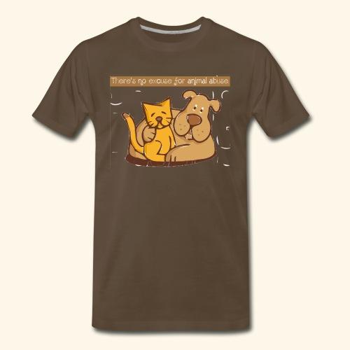 No excuse for animal abuse - Men's Premium T-Shirt
