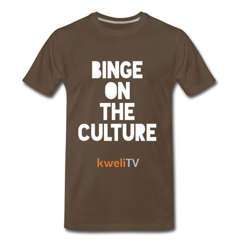 kweliTV t shirt binge - Men's Premium T-Shirt