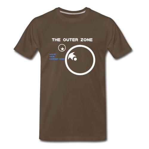 The Outer Zone Logo White - Men's Premium T-Shirt