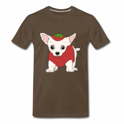 Chihuahua in a Strawberry Costume - Men's Premium T-Shirt