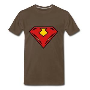 Vegan superhero - Red - Men's Premium T-Shirt