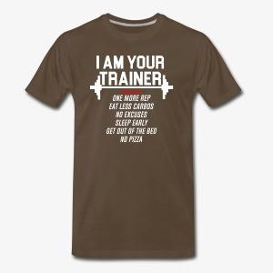 Personal trainer design funny tshirt - Men's Premium T-Shirt
