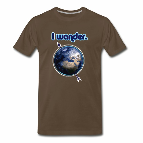 I Wander- Blue Earth Wanderlust Nomad - Men's Premium T-Shirt