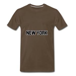 New York Yankee - Black - Men's Premium T-Shirt
