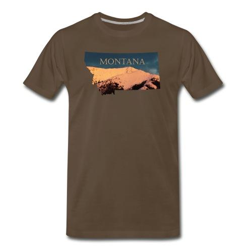 Swan Mountain Range Watercolor - Men's Premium T-Shirt
