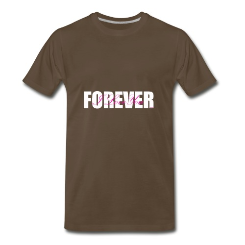 I LOVE YOU FOREVER Pink and White - Men's Premium T-Shirt