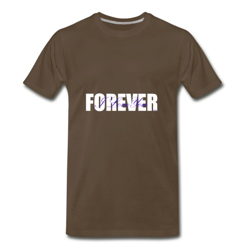 I LOVE YOU FOREVER Blue and White - Men's Premium T-Shirt