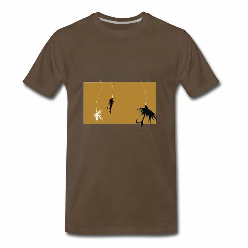 Fishing Shirt Flies - Men's Premium T-Shirt