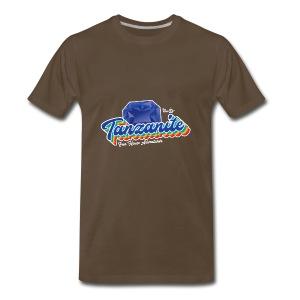 Tanzanite Birthstone Gem - Men's Premium T-Shirt