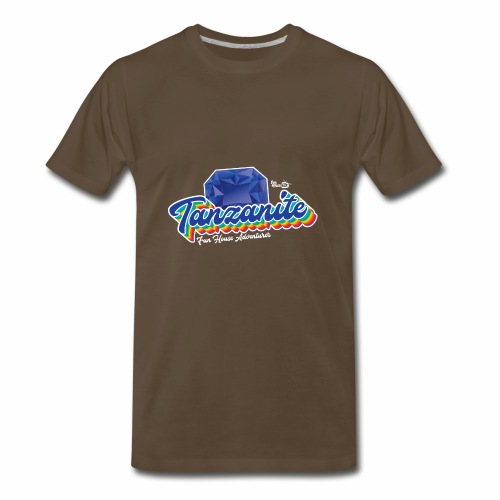 Tanzanite Birthstone Gem - Men's Premium T-Shirt