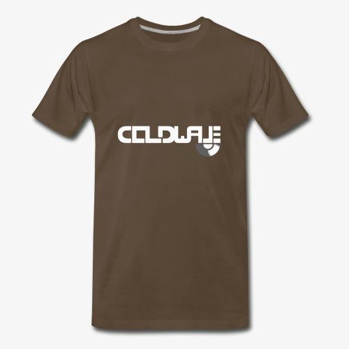 Coldwave Logo with (half) Vinyl - White - Men's Premium T-Shirt