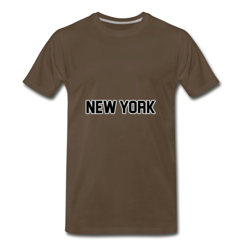 New York Yankee - Black - Men's Premium T-Shirt