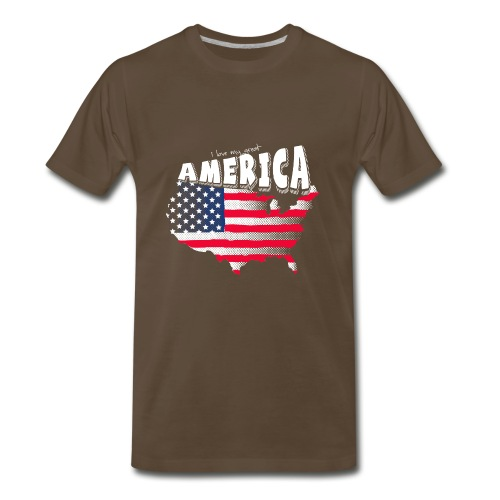 i love my graet america - Men's Premium T-Shirt