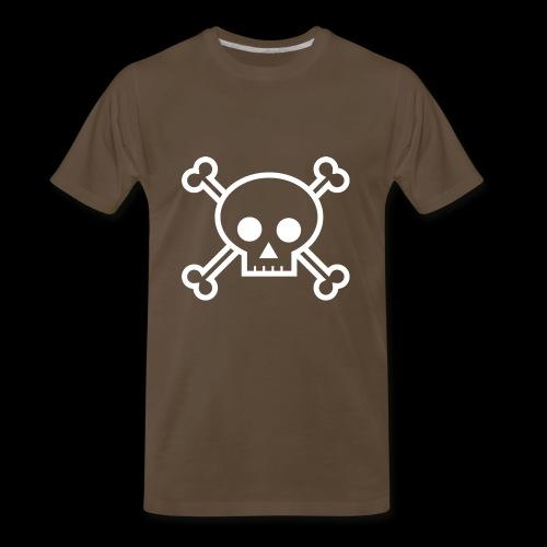 deaths head skull halloween - Men's Premium T-Shirt