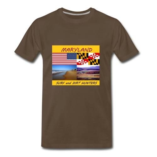 MARYLAND SURF AND DIRT HUNTERS LARGE LOGO - Men's Premium T-Shirt
