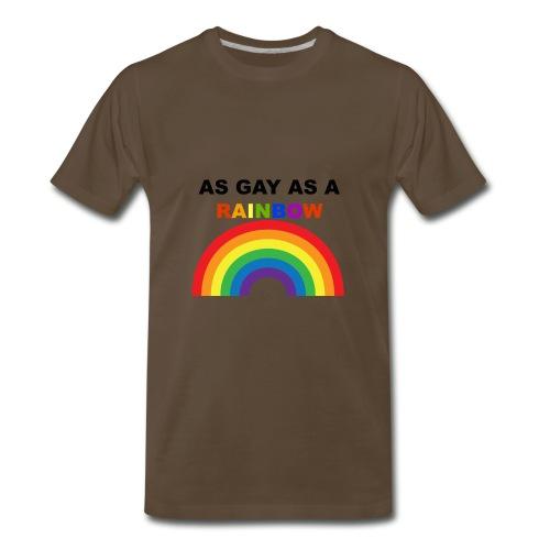 AS GAY AS A RAINBOW - Men's Premium T-Shirt