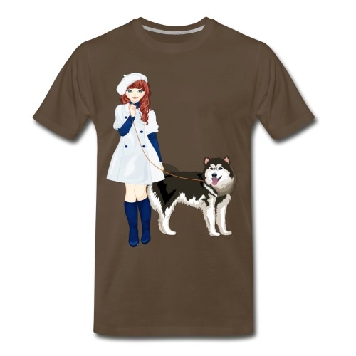 i love my husky - Men's Premium T-Shirt
