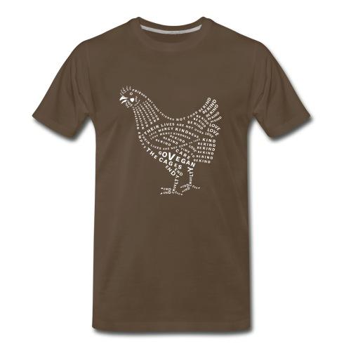 Chicken Design - Men's Premium T-Shirt