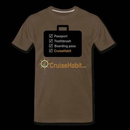 Cruise Check List - CruiseHabit - Men's Premium T-Shirt
