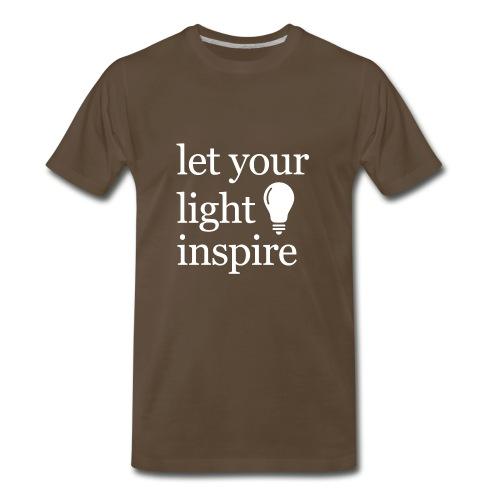 Let Your Light Inspire Tee (white font) - Men's Premium T-Shirt