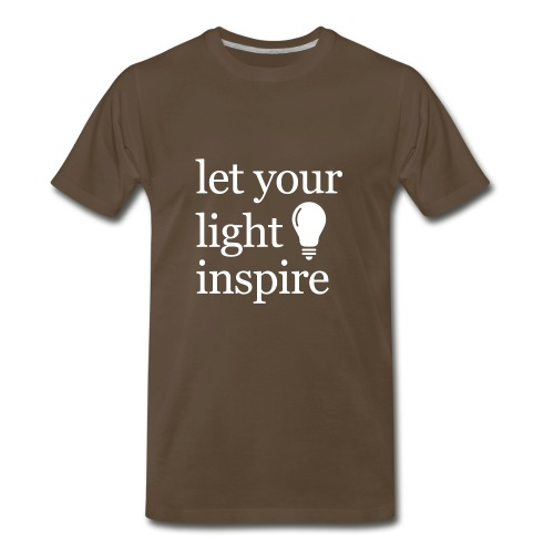 Let Your Light Inspire Hoodie (white font) - Men's Premium T-Shirt