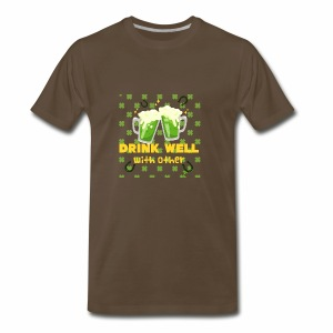 Drink well with other - Men's Premium T-Shirt