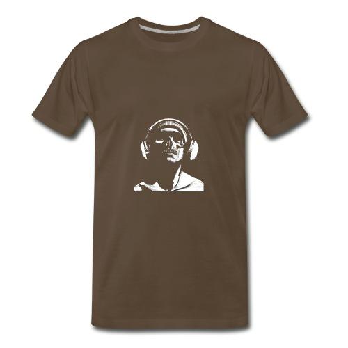 Front Skull Headphones - Men's Premium T-Shirt