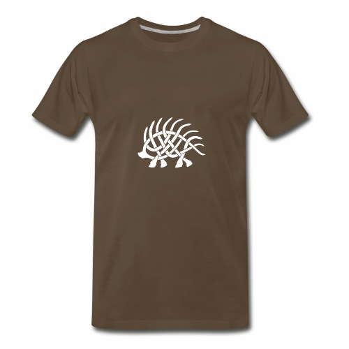 Boar Knot - White - Men's Premium T-Shirt